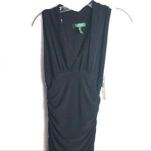 RALPH LAUREN Black long cocktail dress sleeveless
